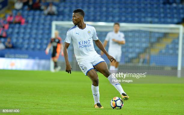Kelechi Iheanacho of Leicester City in action during the Leicester City v Borussia Monchengladbach Preseason Friendly at King Power Stadium on August...