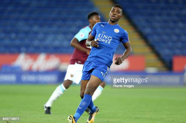 Kelechi Iheanacho of Leicester City in action during the Premier League 2 match between Leicester City and West Ham United at King Power Stadium on...
