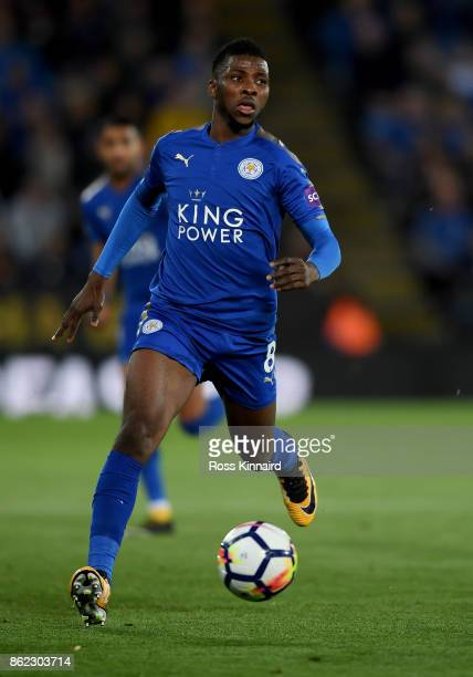 Kelechi Iheanacho of Leicester City in action during the Premier League match between Leicester City and West Bromwich Albion at The King Power...