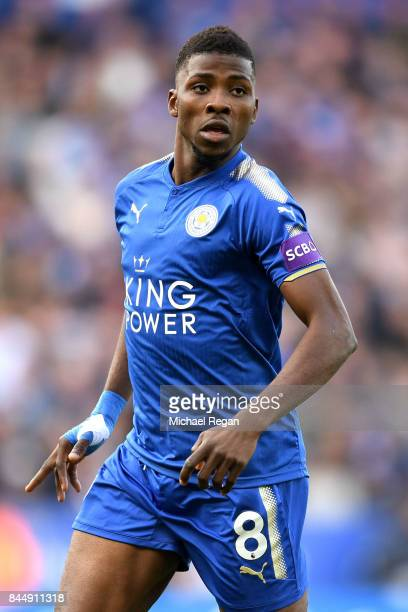 Kelechi Iheanacho of Leicester City looks on during the Premier League match between Leicester City and Chelsea at The King Power Stadium on...