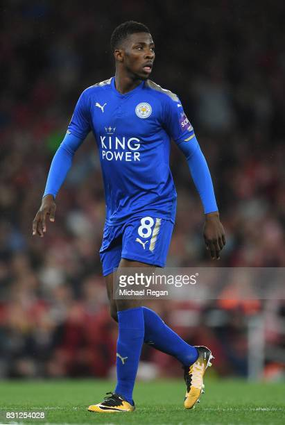Kelechi Iheanacho of Leicester in action during the Premier League match between Arsenal and Leicester City at Emirates Stadium on August 11 2017 in...