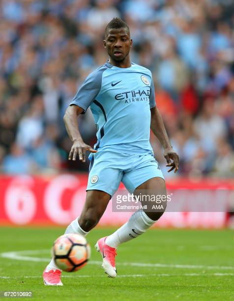 Kelechi Iheanacho of Manchester City during the Emirates FA Cup semifinal match between Arsenal and Manchester City at Wembley Stadium on April 23...