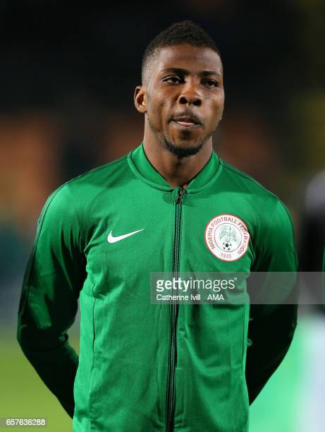 Kelechi Iheanacho of Nigeria during the International Friendly match between Nigeria and Senegal at The Hive on March 23 2017 in Barnet England