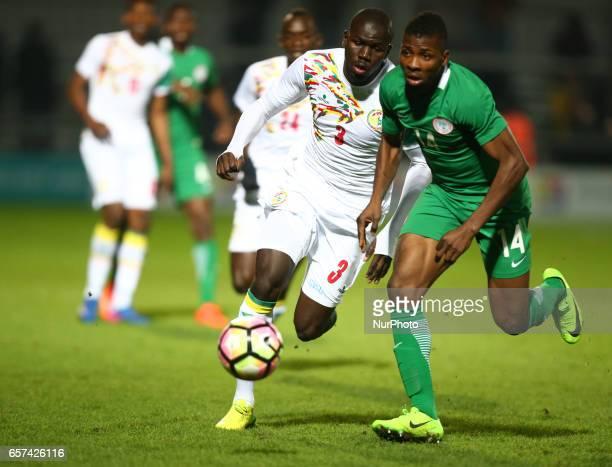 Kelechi Iheanacho of Nigeria takes on Kalidou Koulibaly of Senegal during International Friendly match between Nigeria against Senegal at The Hive...