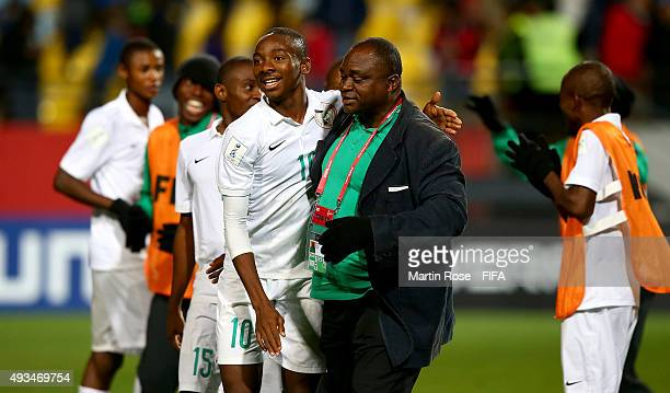 Kelechi Nwakali of Nigeria celebrates after the FIFA U17 Men's World Cup 2015 group A match between Chile and Nigeria at Estadio Sausalito on October...