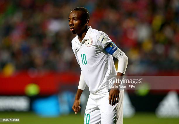 Kelechi Nwakali of Nigeria looks on during the FIFA U17 Men's World Cup 2015 group A match between Chile and Nigeria at Estadio Sausalito on October...