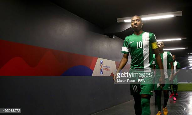 Kelechi Nwakali of Nigeria walks through the players tunnel before the FIFA U17 Men's World Cup 2015 quarter final match between Brazil and Nigeria...