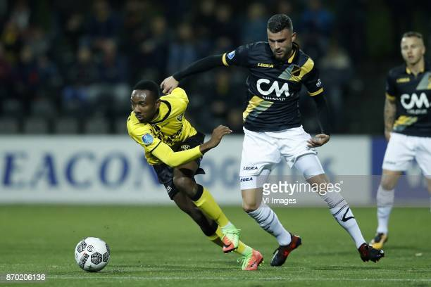 Kelechi Nwakali of VVV Venlo Rai Vloet of NAC Breda during the Dutch Eredivisie match between VVV Venlo and NAC Breda at Seacon stadium De Koel on...