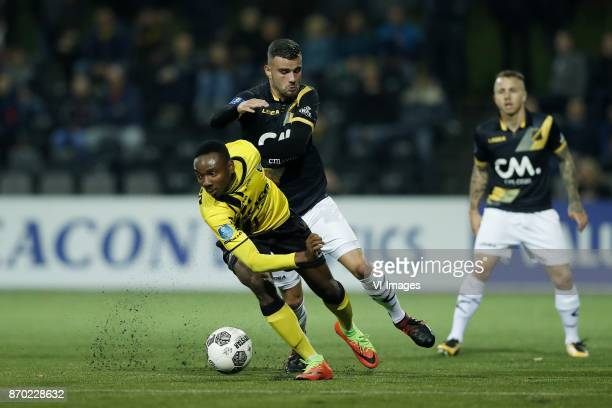 Kelechi Nwakali of VVV Venlo Rai Vloet of NAC Breda Jose Angelino of NAC Breda during the Dutch Eredivisie match between VVV Venlo and NAC Breda at...