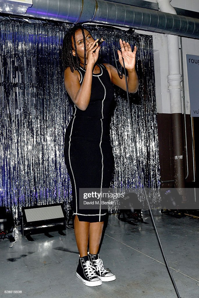 Kelela performs to celebrate the launch of McQ Swallow Capsule collection at Rough Trade East on May 5, 2016 in London, England.
