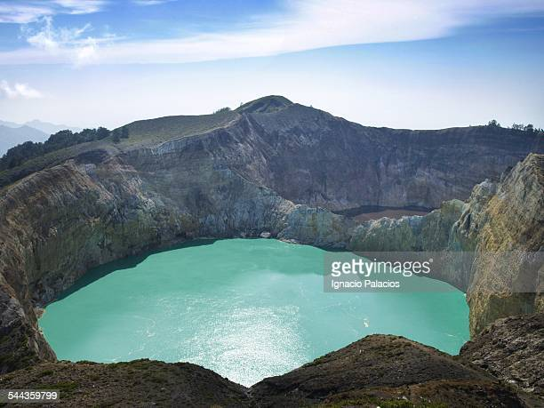 Kelimutu volcano and its colorful lakes