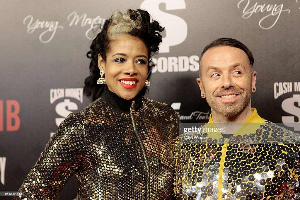 <a gi-track='captionPersonalityLinkClicked' href=/galleries/search?phrase=Kelis&family=editorial&specificpeople=203061 ng-click='$event.stopPropagation()'>Kelis</a> (L) and Damon Peruzzi arrive at the Cash Money Records 4th annual pre-GRAMMY Awards party on February 9, 2013 in West Hollywood, California.