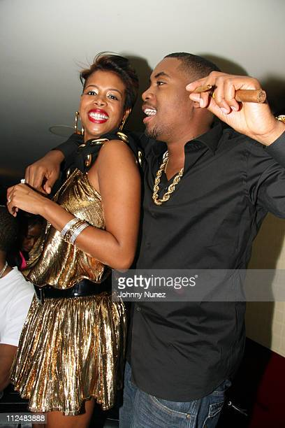 Kelis and Nas during Kelis Throws Nas a Surprise Birthday Party with a Special Performance September 13 2006 at Canal Room in New York New York...