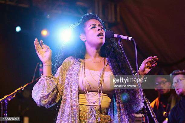 Kelis performs on stage during the NPR Music showcase at Stubb's on March 12 2014 in Austin United States