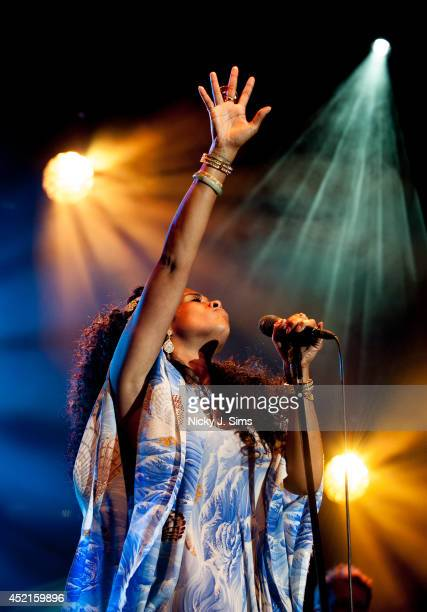 Kelis performs on stage for the Summer Series 2014 at Somerset House in London on July 14 2014 in London England