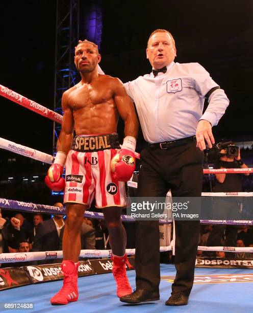 Kell Brook after his IBF Welterweight World Championship bout Errol Spence at Bramall Lane Sheffield