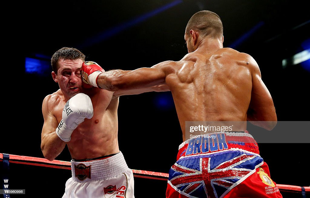 <a gi-track='captionPersonalityLinkClicked' href=/galleries/search?phrase=Kell+Brook&family=editorial&specificpeople=4068924 ng-click='$event.stopPropagation()'>Kell Brook</a> catches Vyacheslav Senchenko with a straight left during their Final Eliminator for the IBF World Welterweight Championship bout at Motorpoint Arena on October 26, 2013 in Sheffield, England.
