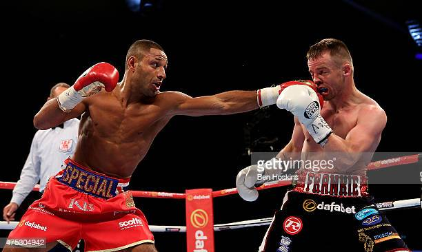 Kell Brook of England and Frankie Gavin of England exchange blows during their IBF World Welterweight Championship bout at The O2 Arena on May 30...