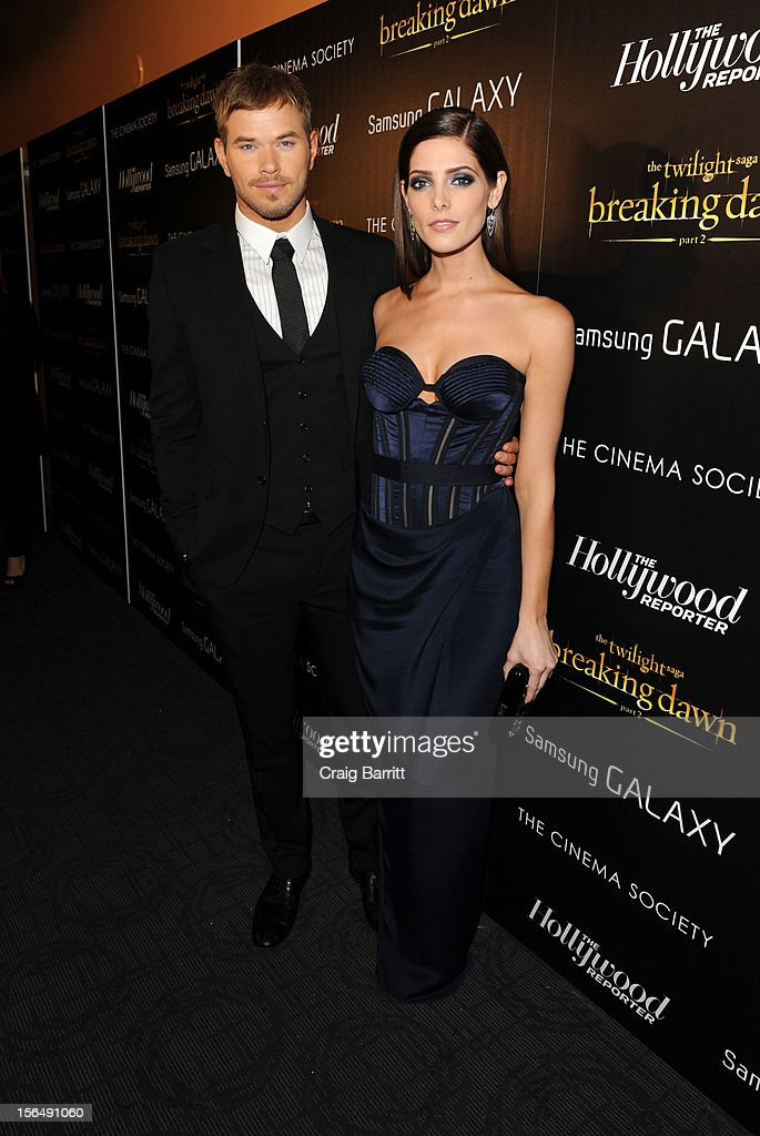 Kellan Lutz and Ashley Greene attend the Screening Of 'The Twilight Saga: Breaking Dawn Part 2' hosted by The Cinema Society with The Hollywood Reporter & Samsung Galaxy on November 15, 2012 in New York City.
