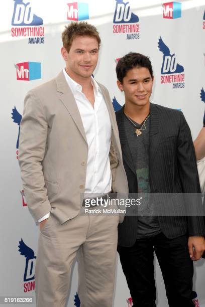 Kellan Lutz and Booboo Stewart attend 2010 VH1 Do Something Awards at Hollywood Palladium on July 19 2010 in Hollywood CA