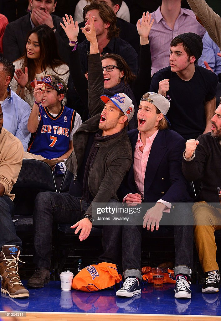 <a gi-track='captionPersonalityLinkClicked' href=/galleries/search?phrase=Kellan+Lutz&family=editorial&specificpeople=683287 ng-click='$event.stopPropagation()'>Kellan Lutz</a> and guest attend the Detroit Pistons vs New York Knicks game at Madison Square Garden on January 7, 2014 in New York City.