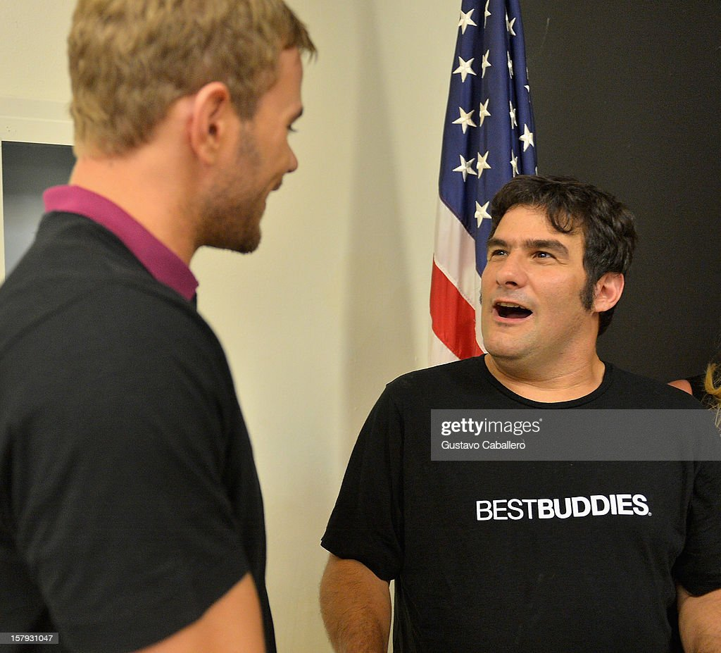 Kellan Lutz and Jorge Morilla attends the Best Buddies welcomes 'Twilight' star Kellan Lutz on December 7, 2012 in Miami, Florida.