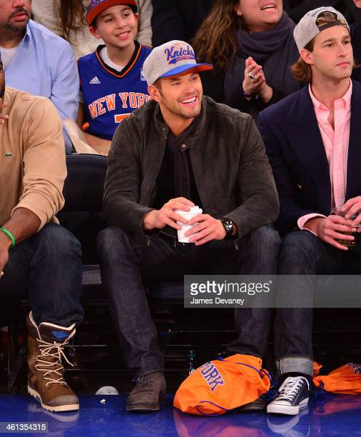 Kellan Lutz attends the Detroit Pistons vs New York Knicks game at Madison Square Garden on January 7 2014 in New York City
