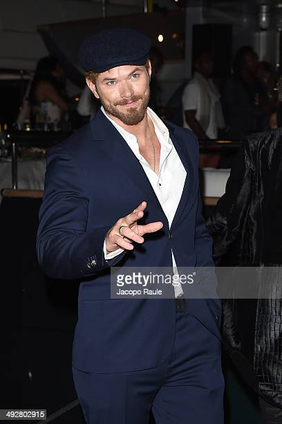 Kellan Lutz attends the 'Roberto Cavalli Annual Party Aboard' Outside Arrivals at the 67th Annual Cannes Film Festival on May 21 2014 in Cannes France
