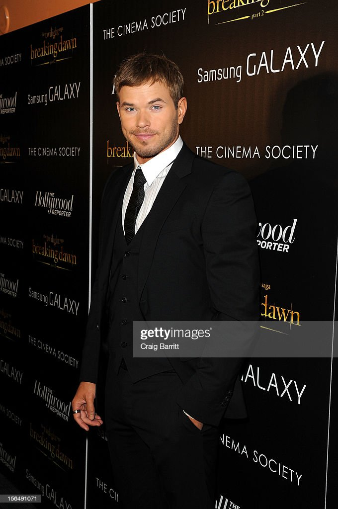 <a gi-track='captionPersonalityLinkClicked' href=/galleries/search?phrase=Kellan+Lutz&family=editorial&specificpeople=683287 ng-click='$event.stopPropagation()'>Kellan Lutz</a> attends the Screening Of 'The Twilight Saga: Breaking Dawn Part 2' hosted by The Cinema Society with The Hollywood Reporter & Samsung Galaxy on November 15, 2012 in New York City.