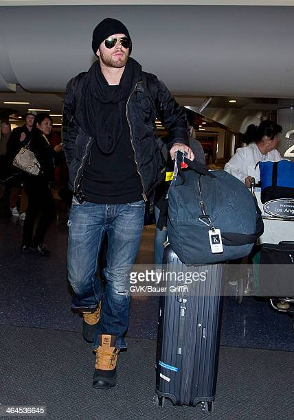 Kellan Lutz is seen at LAX airport on January 22 2014 in Los Angeles California