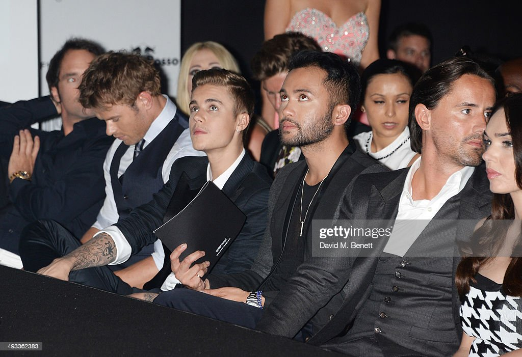 Kellan Lutz, Justin Bieber, guest, Jay Rutland and Tamara Ecclestone attend the Amber Lounge 2014 Gala at Le Meridien Beach Plaza Hotel on May 23, 2014 in Monaco, Monaco.