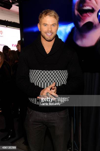 Kellan Lutz poses backstage at Z100's Jingle Ball 2013 presented by Aeropostale at Madison Square Garden on December 13 2013 in New York City