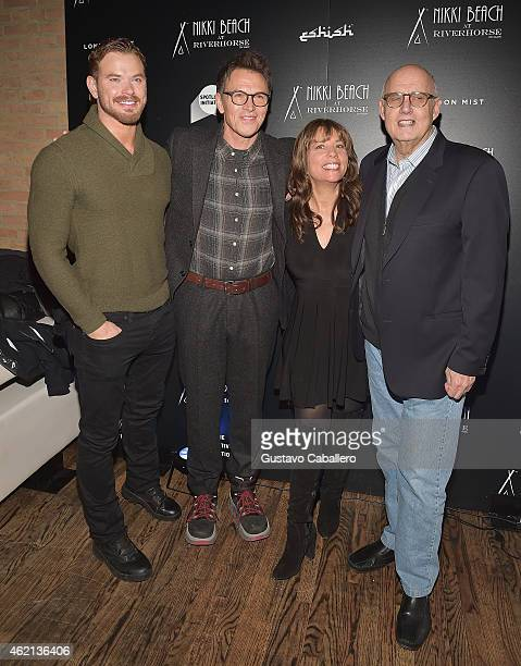 Kellan Lutz Tim Daly Robin Bronk and Jeffrey Tambor attends The Creative Coalition's Spotlight Initiative Gala At Nikki Beach At Riverhorse On Main...