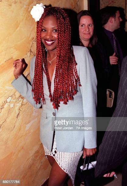 Kelle Bryan of girl band Eternal arrives for the first night of a recast 'Beauty and the Beast' musical at the Dominion Theatre in Tottenham Court...