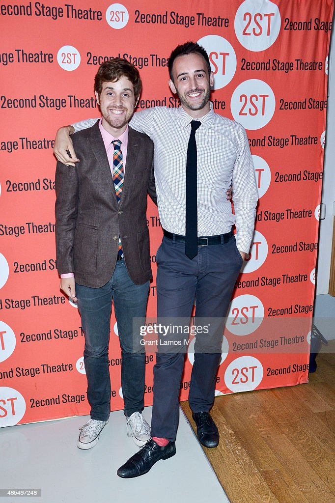 Kellen Blair (L) and Joe Kinosian attend the 'Whorl Inside A Loop' off-broadway opening night after party at Four at Yotel on August 27, 2015 in New York City.