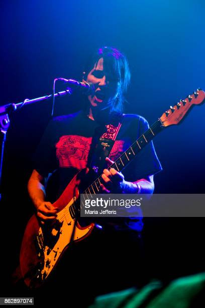 Kelley Deal of The Breeders performs at Electric Ballroom on October 18 2017 in London England