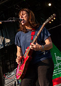 Kelley Deal of The Breeders performs during the 2013 Pitchfork Music Festival at Union Park on July 20 2013 in Chicago Illinois