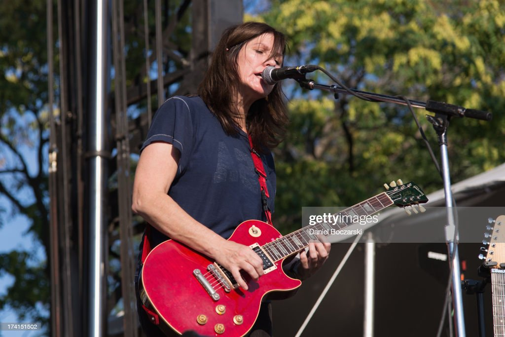 Kelley Deal of The Breeders performs on stage on Day 2 of Pitchfork Music Festival 2013 at Union Park on July 20, 2013 in Chicago, Illinois.