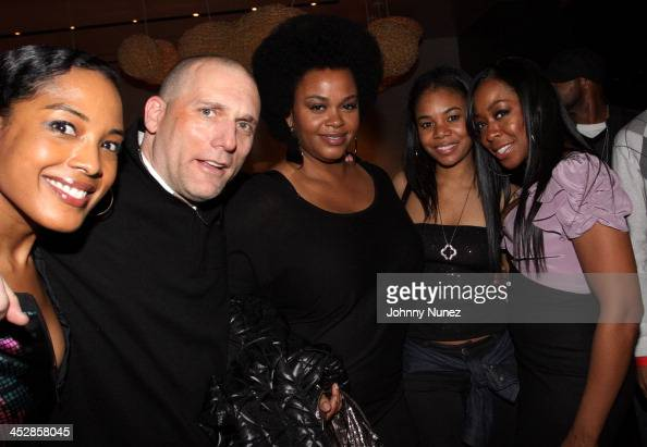 Kelley Lee Steve Rifkind Jill Scott Regina Hall and Tachina Arnold attend the SRC Records PreGrammy Celebration Honoring Melanie Fiona at Nobu on...