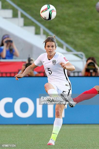 Kelley O'Hara of the United States passes the ball in the first half against China in the FIFA Women's World Cup 2015 Quarter Final match at...