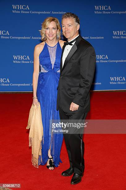 Kelley Paul and senator Rand Paul attend the 102nd White House Correspondents' Association Dinner on April 30 2016 in Washington DC
