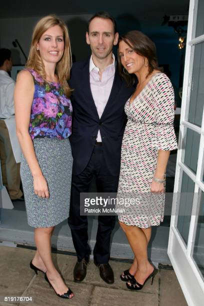 Kelley Smith Steven DeLuca and Karen Uzel attend PATEK PHILIPPE invites you to summer cocktails at 620 5th Ave on July 20 2010 in New York