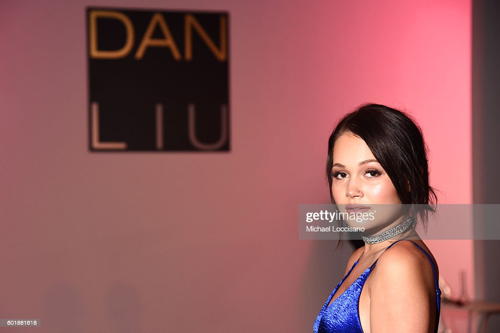 Kelli Berglund attends the Dan Liu fashion show during New York Fashion Week: The Shows September 2016 at The Gallery, Skylight at Clarkson Sq on September 10, 2016 in New York City.
