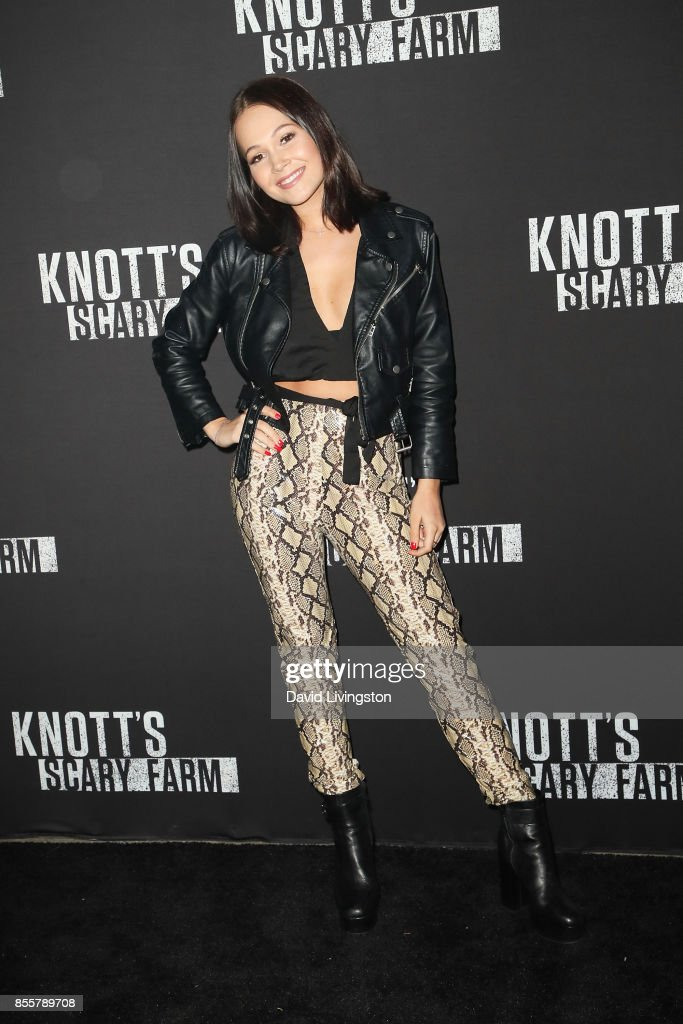 Kelli Berglund attends the Knott's Scary Farm and Instagram's Celebrity Night at Knott's Berry Farm on September 29, 2017 in Buena Park, California.