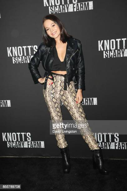 Kelli Berglund attends the Knott's Scary Farm and Instagram's Celebrity Night at Knott's Berry Farm on September 29 2017 in Buena Park California