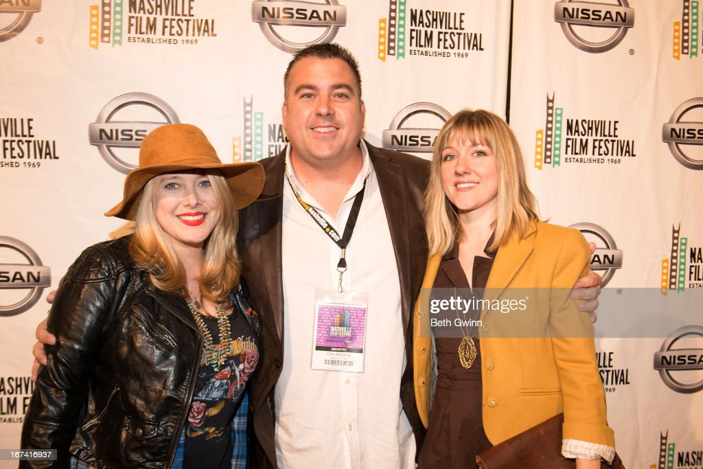 Kelli Eden, Chris McDaniel, and Joelette Barrentin attends the 2013 Nashville film festival at Green Hills Regal Theater on April 24, 2013 in Nashville, Tennessee.