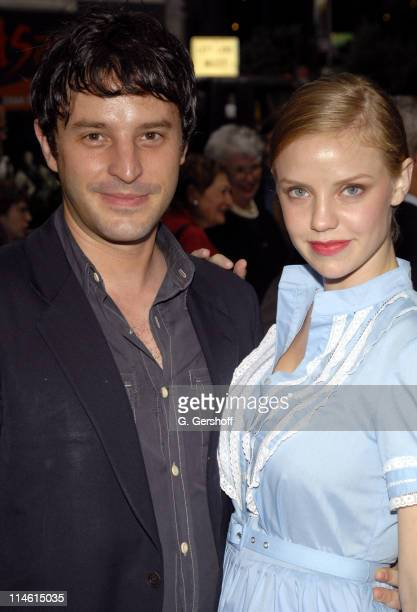 Kelli Garner and Trip Cullman director during 'Pig Farm' Opening Night Arrivals at The Laura Pels Theatre in New York City New York United States