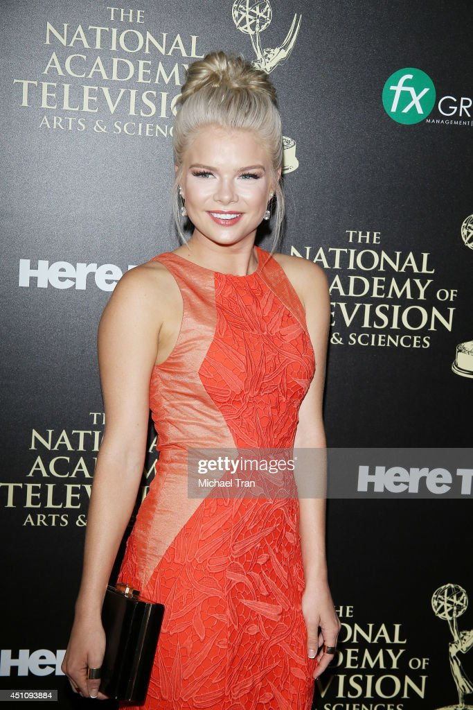 <a gi-track='captionPersonalityLinkClicked' href=/galleries/search?phrase=Kelli+Goss&family=editorial&specificpeople=7229505 ng-click='$event.stopPropagation()'>Kelli Goss</a> arrives at the 41st Annual Daytime Emmy Awards held at The Beverly Hilton Hotel on June 22, 2014 in Beverly Hills, California.