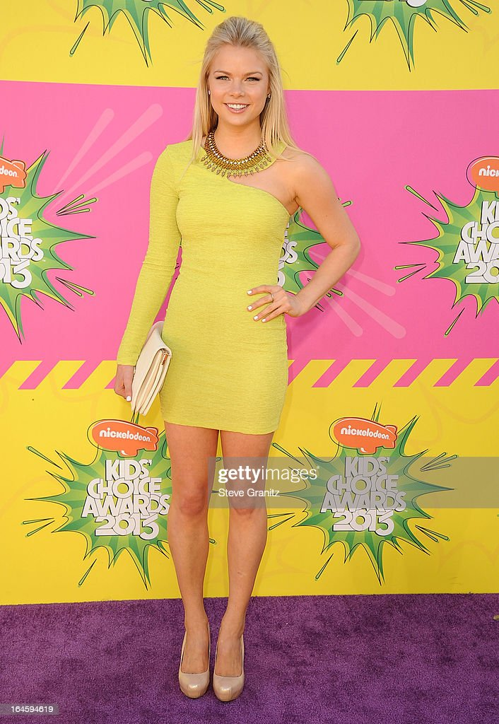 Kelli Goss arrives at the Nickelodeon's 26th Annual Kids' Choice Awards at USC Galen Center on March 23, 2013 in Los Angeles, California.