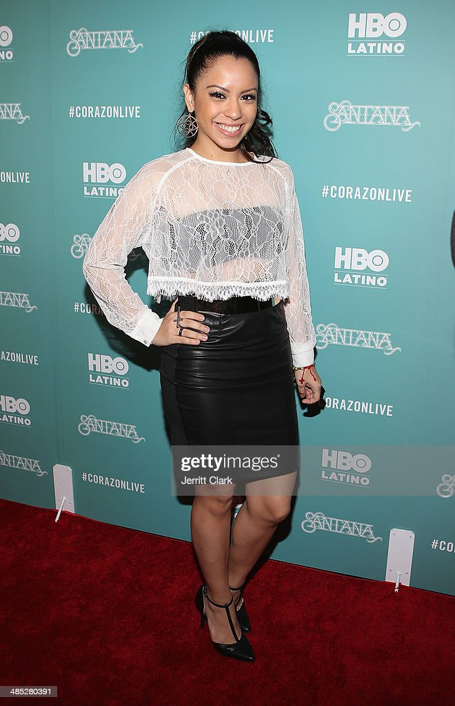 Kelli Jazz attends the HBO Latino NYC Premiere of 'Santana: De Corazon' at Hudson Theatre on April 16, 2014 in New York City.